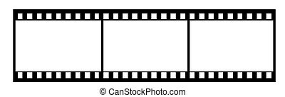 35mm film illustration - 35mm film isolated vector...