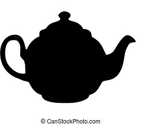 teapot - traditional British teapot isolated vector...