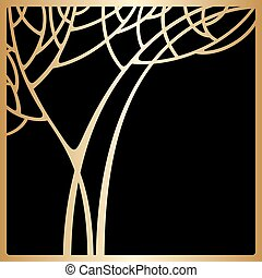Vector art deco invitation card. - Vector background with...