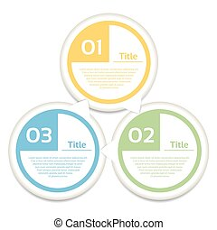 Circle arrows. Cyclic arrows. Arrows for infographic. 3...