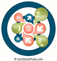 Infographic Template for Business. Four steps cycling...