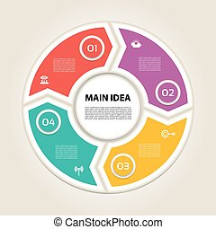 Circle arrows. Cyclic arrows. Arrows for infographic. 4...