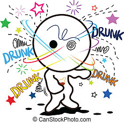 cartoon drunk when heavy drink alcohol ..so much..defunct.