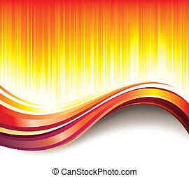 Hot Wave Background - Glittering hot wave summer abstract...