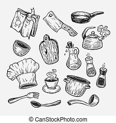 Cooking and kitchen tools.