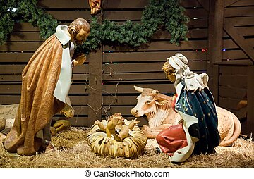 Nativity scene - A nativity scene, cr?che, or crib, is a...