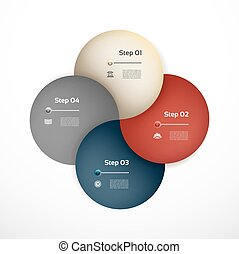 Vector circle infographic. Template for diagram, graph, presentation and chart. Business concept with four options, parts, steps or processes. Abstract background.