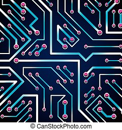Vector digital technology background with circuit board...