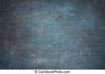 Blue painted canvas or muslin fabric cloth studio backdrop...