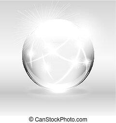 Clear White Globe