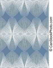 Illusive abstract seamless pattern with geometric figures....