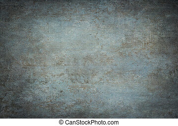 Blue painted canvas or muslin fabric cloth studio backdrop