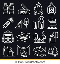 Vector lines icons pack collection set cool