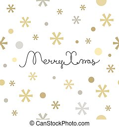 Merry Christmas lettering design. Seamless pattern element...