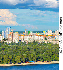 Kiev cityscape, Ukraine - Architecture of Kiev - the capital...