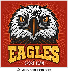 Eagles - sport team. Head Eagle and inscription