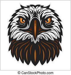 Eagle head mascot isolated on white background