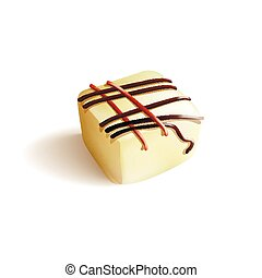 Chocolate Candy. Isolated Vector illustration on white...