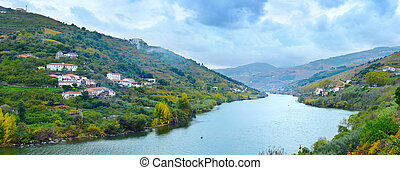 Portugal Porto wine wineyards region - Douro river,...
