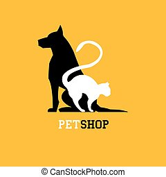 pet shop - Pet shop. Veterinary sign - vector