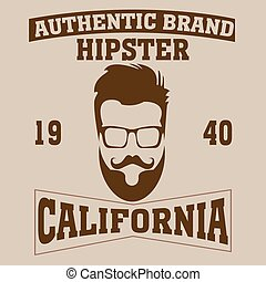 los angeles typography fashion hipster, t-shirt graphics