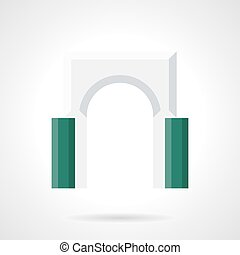Decorative archway flat color vector icon - Classic round...