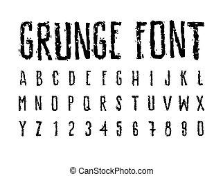 Decorative careless grunge font, bold letters - Brutal...