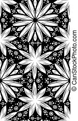 Abstract geometric seamless pattern with hand drow flowers -...