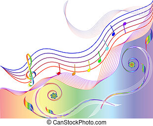 Music theme - vector Music theme