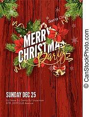 Merry Christmas greeting card template. - Merry Christmas...