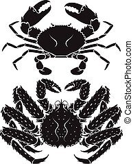 Alaskan king crab. Vector Illustrations.
