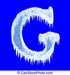 Icing alphabet. Letter G. Upper case. With clipping path