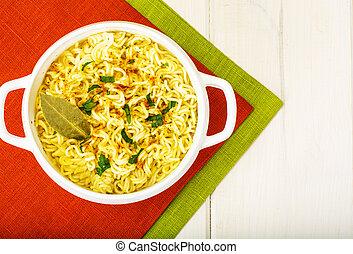 sopa,  noodles, instante, Chinês