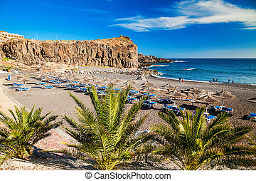 beach in a small village Callao Salvaje in Tenerife, Canary...