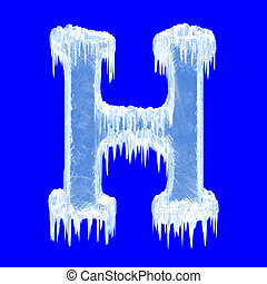 Icing alphabet. Letter H. Upper case. With clipping path