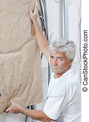 Installing wall insulation