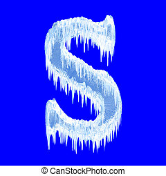Icing alphabet. Letter S. Upper case. With clipping path