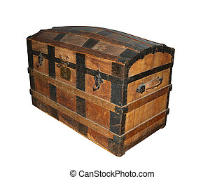 19th Century Sea Chest isolated with clipping path