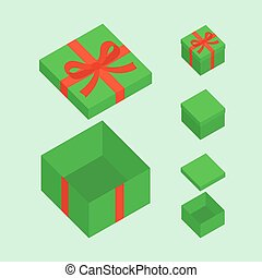 Green Christmas Box - Green open box for Christmas gifts...