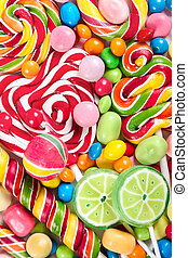 Colorful different candy