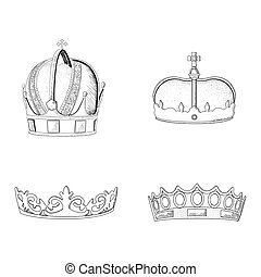 Set of royal crowns