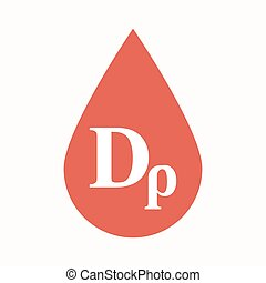 Isolated blood drop with a drachma currency sign -...