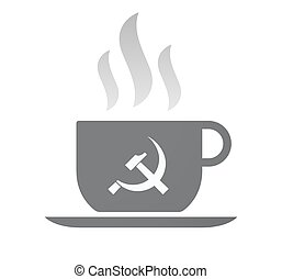 Isolated coffee cup with the communist symbol - Illustration...