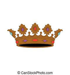 Royal crown - Isolated royal crown on a white background,...