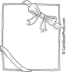 Bow doodle - Doodle gift card
