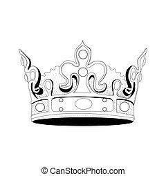Royal crown - Isolated hand drawn royal crown, Vector...