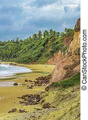 Tibau Do Sul Beach - Tropical view landscape scene of empty...