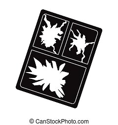 Broken window icon in black style isolated on white...