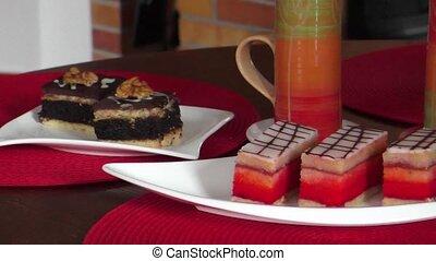 Sweet pink punch cake