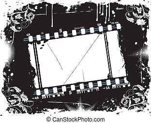 Photographic film frame - Grunge photographic film frame...